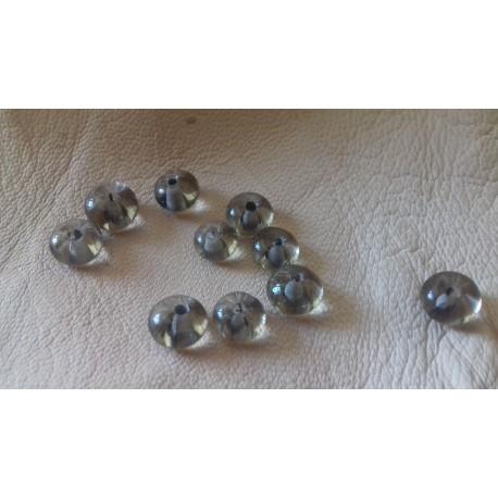 10 perles de verre