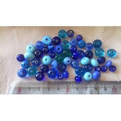 50 perles de verre