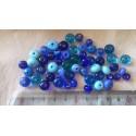 50 perles bleues