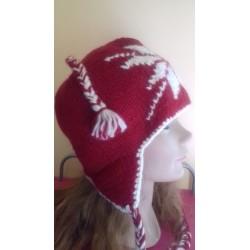 Bonnet rouge laine et polaire