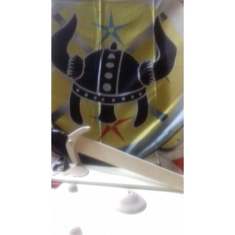 Bouclier, épée et drapeau ving