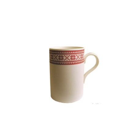 Tasse motif traditionnel rouge