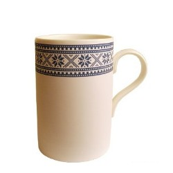 Tasse motif traditionnel bleue