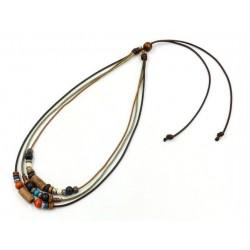 Collier perles de bois