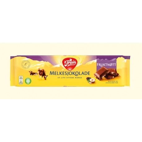 Melkesjokolade Fruktnøtt