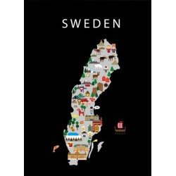 Carte de la Suède